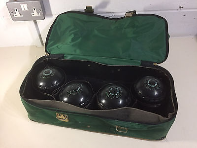 Almark set of 4 bowls clubmaster size 4 with FREE carry bag