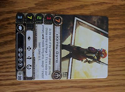 X-Wing Miniatures FFG Fantasy Flight Ketsu Onyo Pilot Card Promo Q1 2017