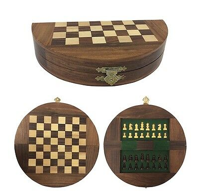 Admiral chess set folding in wooden box