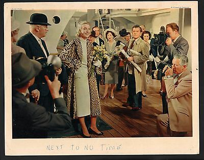 Next to no Time Lobby Card-Betsy Drake having her picture taken by photographers