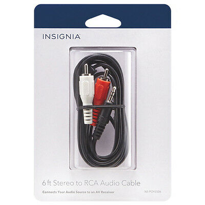 Insignia 1.8m (6 ft.) 3.5mm to Y-RCA Cable (NS-POY3506-C)