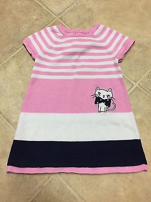 Gymboree Dress Baby/Toddler Girl Size 18-24 Months Light Pink/White/Navy Blue