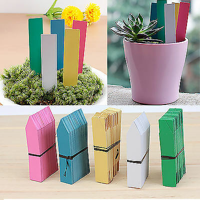 CHIC New Long Plastic Plant Seed Labels Pot Marker Nursery Garden Stake Tags