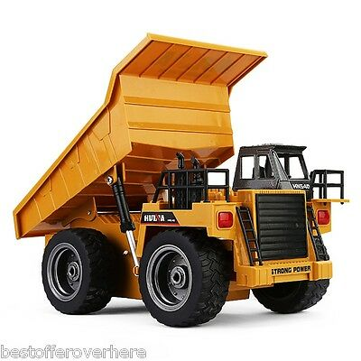HUINA 1540 1:18 2.4G RC Alloy Dump Truck Auto Demonstration Function