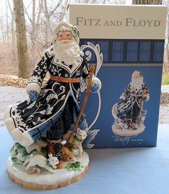 Fitz & Floyd Bristol Holiday Large Santa w Cane Figurine Centerpiece New in Box