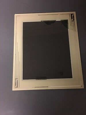 Glass Art Deco Picture Frame VINTAGE Beautiful Streamline Design Silver Cream