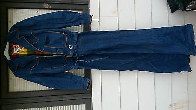 Vintage Womens St.leger Denim Overalls With Bell Bottoms Large