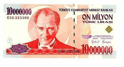 Turkey ... P-214 ... 10,000,000 Lirasi ... L.1970(1999) ... *UNC*