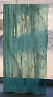 "6"" x 12""Spectrum SEA GREEN WHISPY Stained Glass"