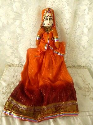 Vintage topsy turvey Indian Asian doll wood  man woman national topsy turvy