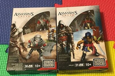 Mega Bloks Assassins Creed Collector Construction Set Figure Lot Of 2 New Sealed