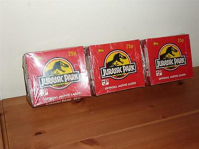 Jurassic Park - 3 x Complete Box Sealed Official Movie Cards 1992 Trading Cards