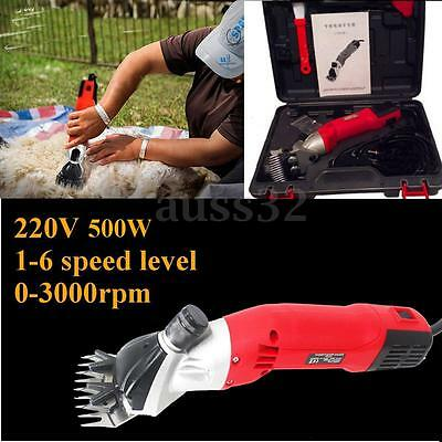 500W 220V 6 Levels Electric Sheep Shearing for Goats Clipper Shear Alpaca Farm
