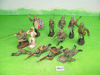 vintage various composition soldiers mixed lot germans 1529