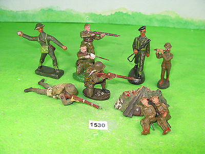 vintage various composition soldiers mixed lot allied & other 1530