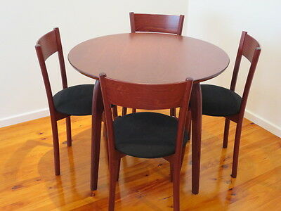 Dining table set - 5 piece (90cm table and 4 chairs)