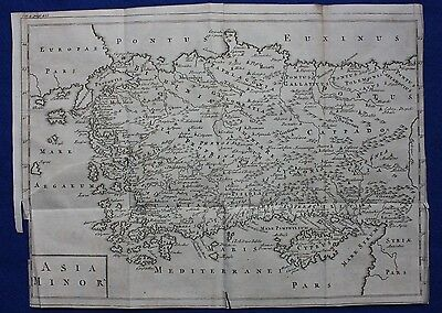 Original antique map ANCIENT ASIA MINOR, TURKEY, CYPRUS 'Universal History' 1747