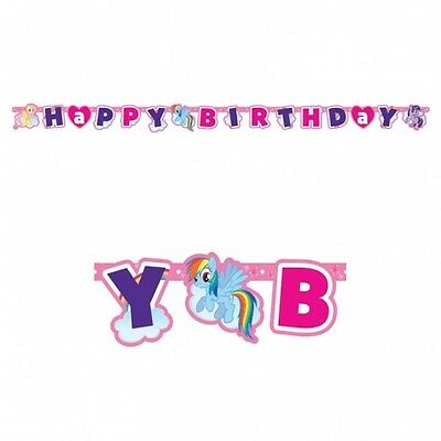 My Little Pony 1.8m Happy Birthday Jointed Letter Banner Kids Party Decoration.