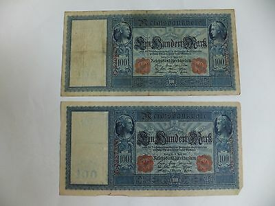 Two German Banknotes - 100 Marks 1910
