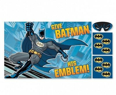 Batman Pin The Tail on The Donkey Style Kids Birthday Party Game - DC Comics