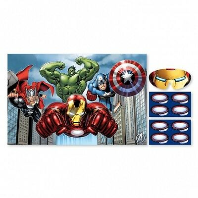 Avengers Assemble Pin The Tail on The Donkey Style Kids Birthday Party Game