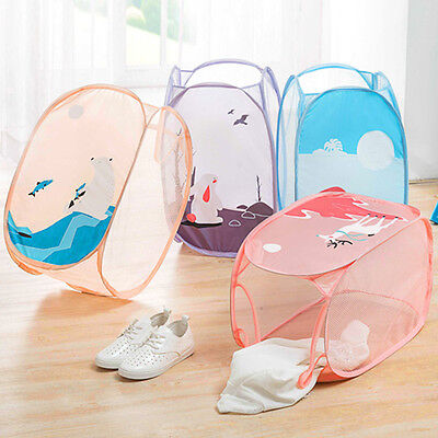 Cute Toddler Baby Kids Toys Storage Bags Dirty Clothes  Laundry Basket Bags