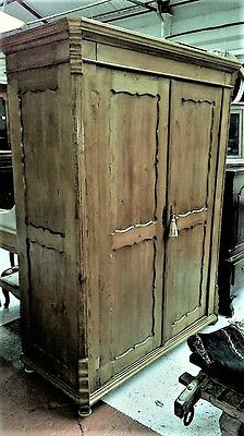Beautiful Large Early 19Th Century Carved Russian Armoire/Hanging Cupboard