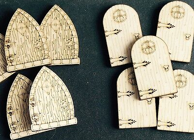 10 x Mini Wooden Fairy Doors. NOT MDF! Fairies, faeries, pixie Decorate your own