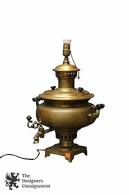 1870s Tula Stamped Antique Russian Samovar Lamp Imperial Tea Coffee Pot Kettle