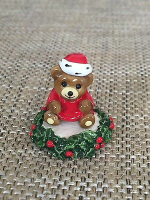 Wee Forest Folk - WFF Tiny Teddies Christmas Teddy Retired
