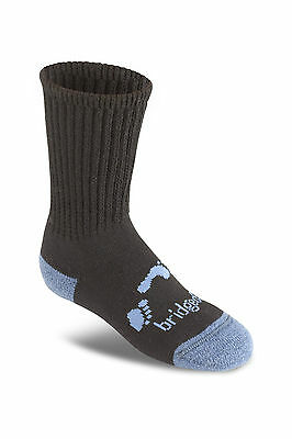 Bridgedale TREKKER JUNIOR BLACK L UK 1-3 Children's Boot Hiking Trekking Socks