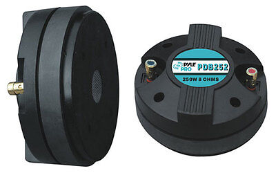 """Pyle PDB252 1.5"""" Aluminum Horn Bolt On Compression Driver Tweeter 8 Ohm 500w"""