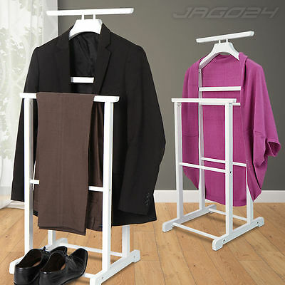 Valet Stand Clothes Coat Trouser Butlers Suit Rack Hanger Set Wardrobe Organiser