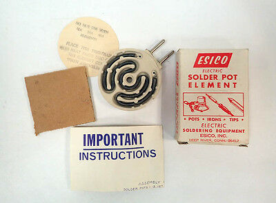 Esico Electric Solder Pot Element120V 325W Bnib / Nos