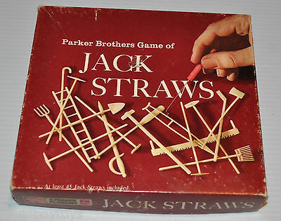 JACK STRAWS Parker Brothers Skill Game 1970s