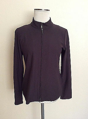 Eileen Fisher  unlined full zip jacket viscose/nylon/spandex *S made in the USA