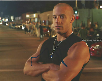 Vin Diesel Signed 10x8 Photo Fast & Furious AFTAL OnlineCOA