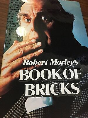 Robert Morley Book of Bricks signed association 1978 1st printing