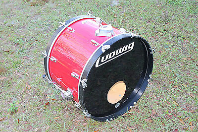"""1980's Ludwig Rocker 16x24"""" Bass Drum. w/4 ply maple shell. made in USA"""