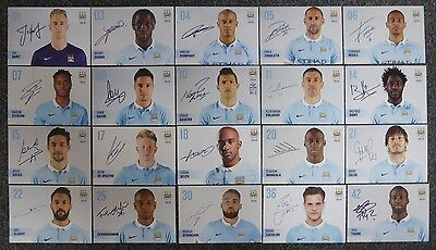 2015-16 Manchester City Signed Official Club Cards £4 Each