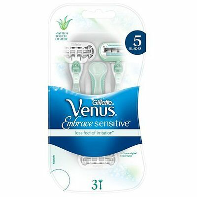 Gillette Venus Embrace Sensitive Women's Disposable Razors 3 per pack
