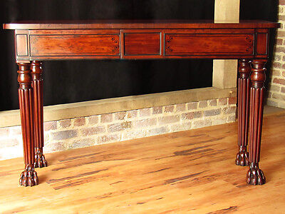 George III Mahogany Lion Paw Serving Table c. 1810