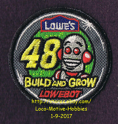 LMH PATCH Badge  2010 LOWEBOT Race Car Racecar 48  LOWES Build Grow Kids Robot