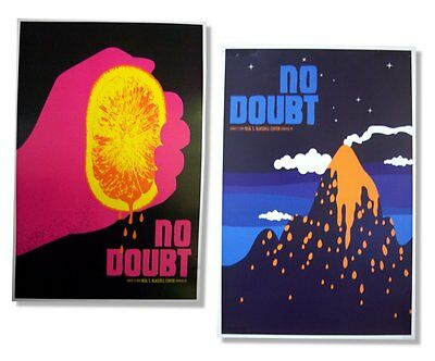 No Doubt 2009 Tour Hawaii Volcano/squeeze Orange Wall Poster Set Official New