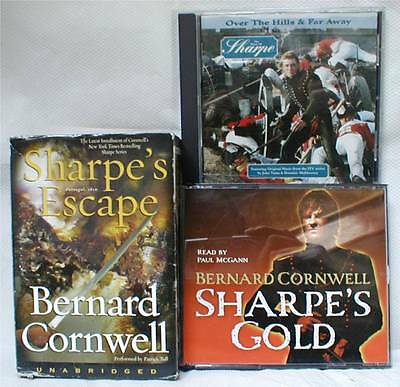 Two Sharpe Audio Books By Bernard Cornwell & Over The Hills And Far Away Cd