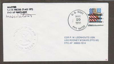 USNS Pecos March 20 1996 (n38312) Embossed Ships Seal (OW39)