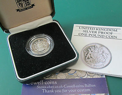 UK 1983 SILVER PROOF PIEDFORT £1 ONE POUND ROYAL MINT BOX/COA SCARCE COIN Cc2