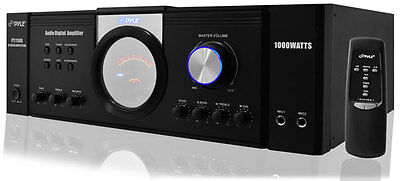 Pyle PT1100 1000W Digital 2 Channel Stereo Home Audio Speaker Amplifier Amp