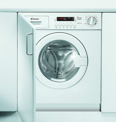 Candy CDB754DN/1 Integrated Washer Dryer 7kg & 5kg wash/dry, LED, 1400spin
