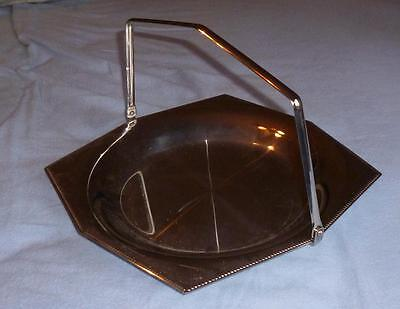 Vintage 'Old Hall' Stainless Steel Serving Plate With Handle